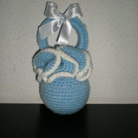 Chupete hecho con lana